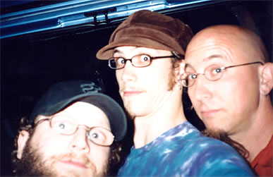 Jon, Chris, and Jeff Coffin (of the Flecktones) in Boston, MA - 8.11.01