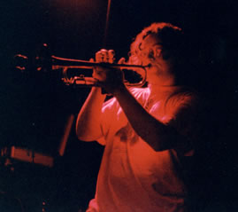 Graham trumpeting in Huntsville, AL - 9.1.01